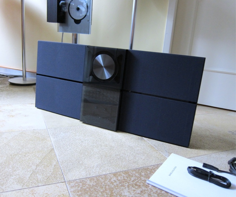 bang olufsen b o stereoanlage beosound century schwarz ebay. Black Bedroom Furniture Sets. Home Design Ideas